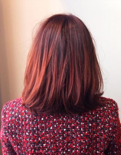 TENDANCE COLORATION : L'OMBRE HAIR version ROUGE