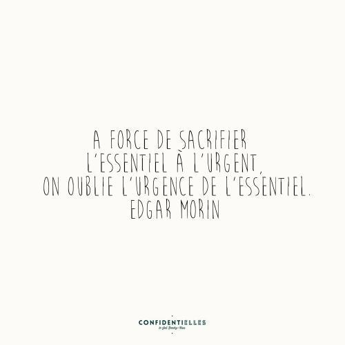 A force de sacrifier l'essentiel à l'urgent