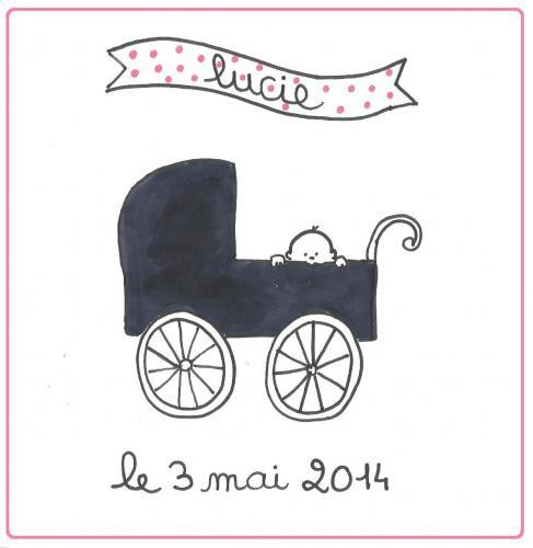 Clémentine dessine votre faire-part de naissance