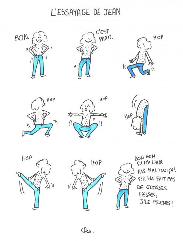 L'essayage de jean