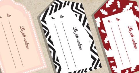 Nos étiquettes cadeaux à télécharger !