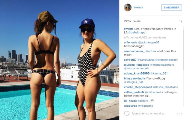 La TOP MODEL Emily Ratajkwsky montre ses FESSES et affole INSTAGRAM