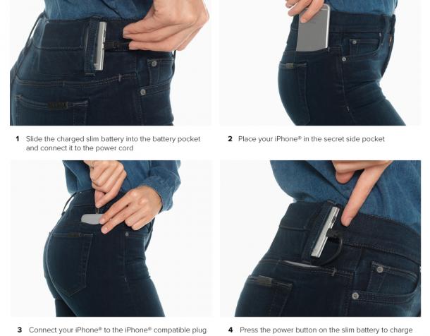 HALLUCINANT : votre jean va recharger votre PORTABLE