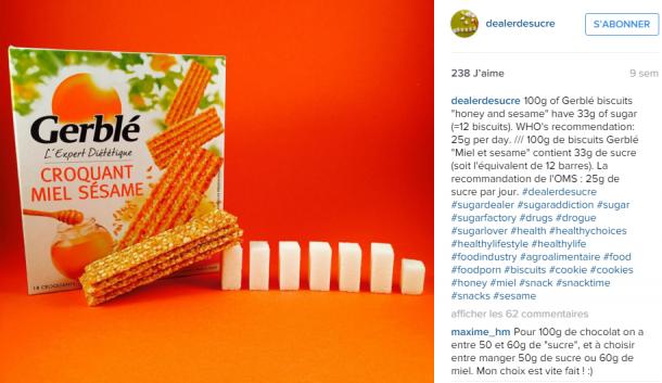 DEALER DE SUCRE, cet incroyable compte Instagram qui déniche le sucre caché dans nos aliments