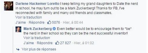 Quand MARK ZUCKERBERG répond à une GRAND-MERE via Facebook