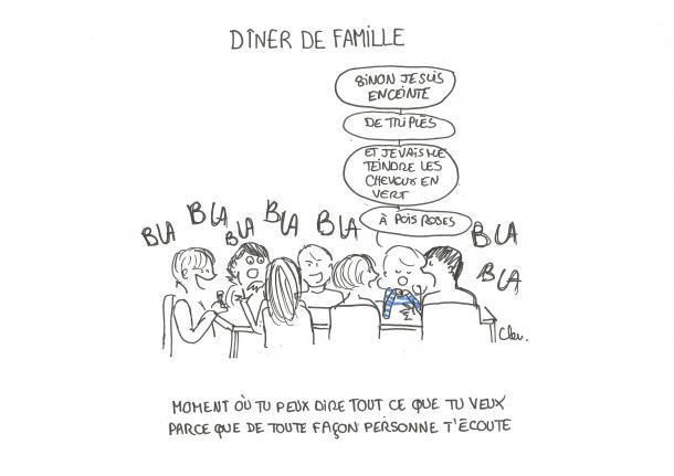 Les dîners de famille