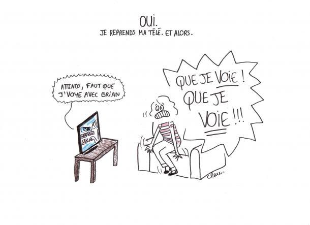La fille qui corrigeait sa télé