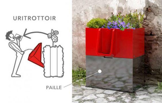 L'URITROTTOIR à Nantes : un  CONCEPT pour faire PIPI dans les pots FLEURS des TROTTOIRS !