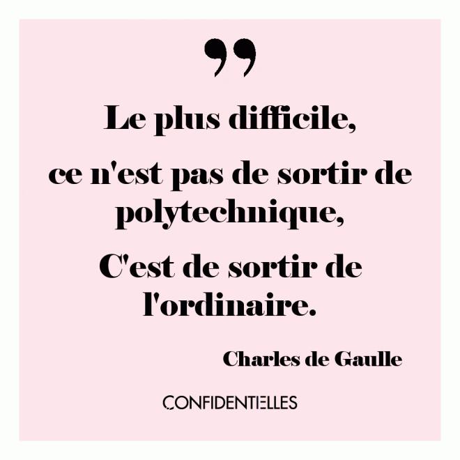 Mot de Gaulle.