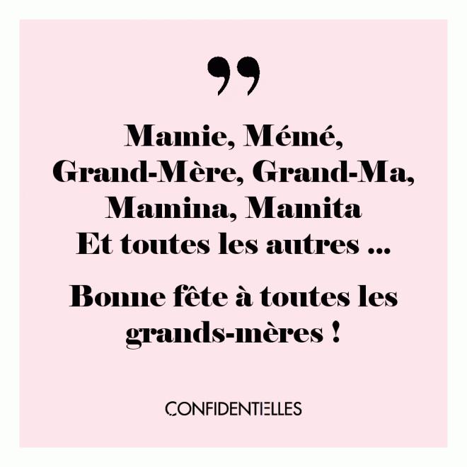 Bonne fête à toutes les grands-mères !